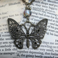 Butterfly Charm Glass Bead Necklace