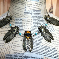 Beetle Bug Cicada Statement Necklace