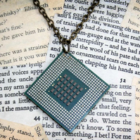Computer Geek Chic CPU Necklace