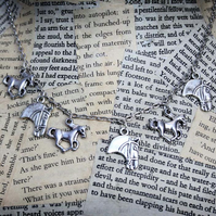 Silver Horse Charm Necklace