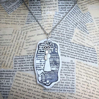 Clay Lock and Key Charm Silver Necklace