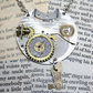 Vintage Pocket Watch Steampunk Necklace