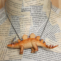 Statement Stegosaurus Dinosaur Party Animal Necklace