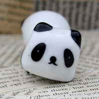 Lying Down Panda 3D Panda Statement Brooch
