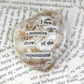 Seashell Word Quote Brooch
