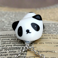 Lying Down Panda 3D Panda Statement Necklace