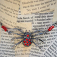 Spider Tarantula Red Bead Choker Necklace