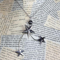Shooting Star Night Sky Necklace