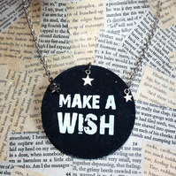 Make A Wish Silver Star Necklace