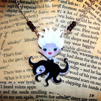 Variation Listing - Fairytale Villain Character Silver Necklace