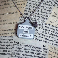 SALE Alice In Wonderland Quote Necklace
