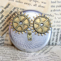Steampunk Owl Bird Brooch