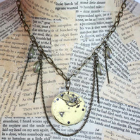 Steampunk Pocket Watch Statement Necklace