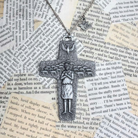 SALE Cross Crucifix Lamb Sheep Dove Necklace
