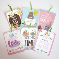 Spring Time Tea Time Woodland Gift Tag Set