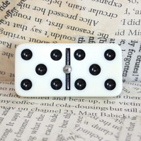 Vintage Domino Rockabilly Brooch