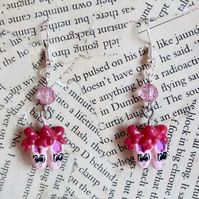 Pink Ballerina Slippers Dance Earrings
