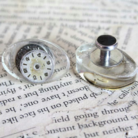 Vintage Clock Face Resin Cufflinks