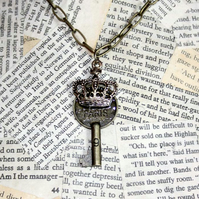 Royal Crown Paris Key Charm Necklace