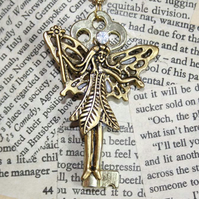 SALE Gold Fairy Magic Key Necklace