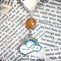 SALE Rainbow Pride Cloud Silver Necklace