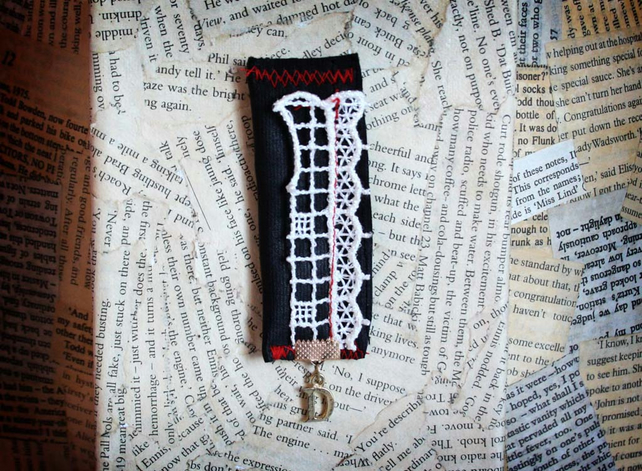Initial D Fabric Scrap Lace Brooch
