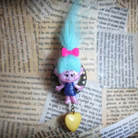 Kitsch Cute Troll Love Heart Statement Brooch