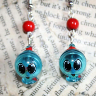 Retro Gumball Charm Shaker Charm Drop Hook Earrings