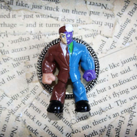 Batman Villain Two-Face Harvey Dent Character Statement Brooch