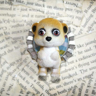 Meerkat Toy Character Statement Brooch