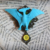 Dinosaur Toy Pterodactyl Statement Brooch