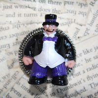 Batman Villain Penguin Character Toy Statement Brooch