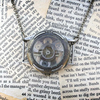 Steampunk Upcycled Repurposed Watch Statement Necklace