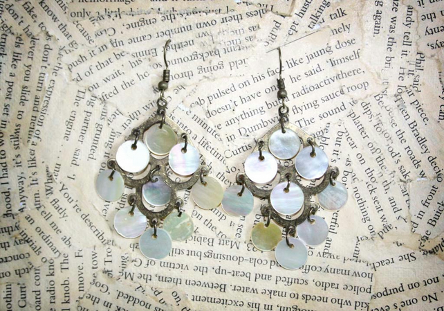 Seashell Shell Chandelier Style Hook Dangle Earrings