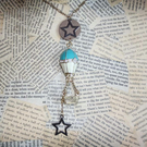 Hot Air Balloon Reach for the Stars Gold Necklace