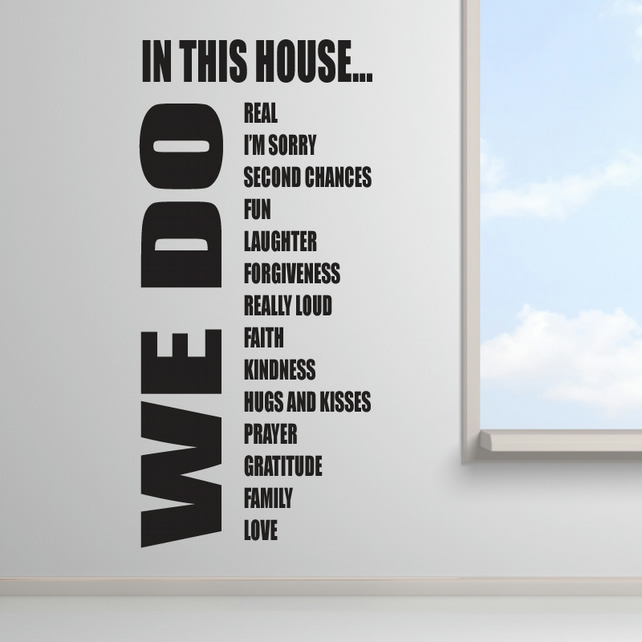 House Rules Wall Stickers WE DO Wall Sticker Folksy - House rules wall decals