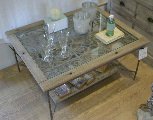 Bespoke Coffee Tables with antique English cast iron antique decorative panel.