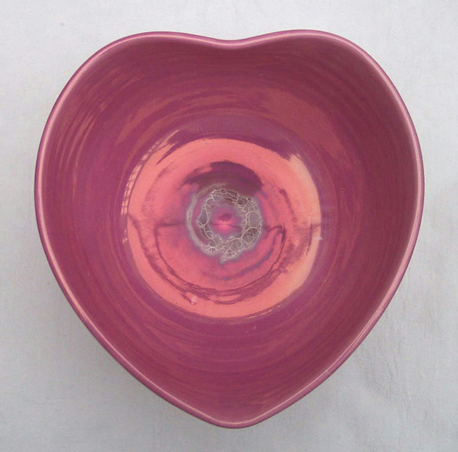 Pink Lustre Sweetheart Bowl