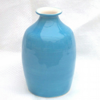 Sky Blue Flask - Ceramic Flask - Pottery Flask - Bud Vase