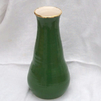 Green and Gold Flask - Ceramic Flask - Pottery Flask