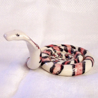 Snake Ornament  - Ceramic Snake - Pottery Snake