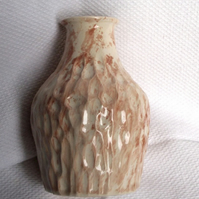 Textured Brown Flask - Ceramic Flask - Pottery Flask