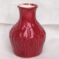 Fire Red Flask - Ceramic Flask - Pottery Flask