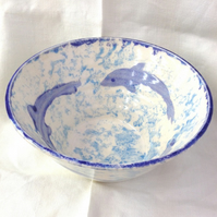 Dolphins Ceramic Pottery Bowl