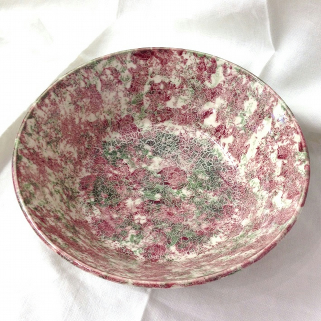 Large Red & Green Bowl