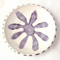 Small Flower Dish - Ceramic Dish - Pottery Dish