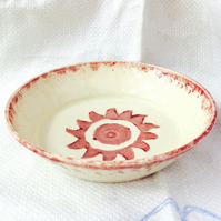 Red Sunshine Dish - Ceramic Dish - Pottery Dish