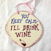 Wine Lover's Wall Plaque
