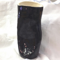 Large Black Organic Vase - Ceramic Vase - Pottery Vase