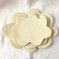 Nesting Cloud Dishes -  Ceramic Cloud Dishes - Pottery Cloud Dishes